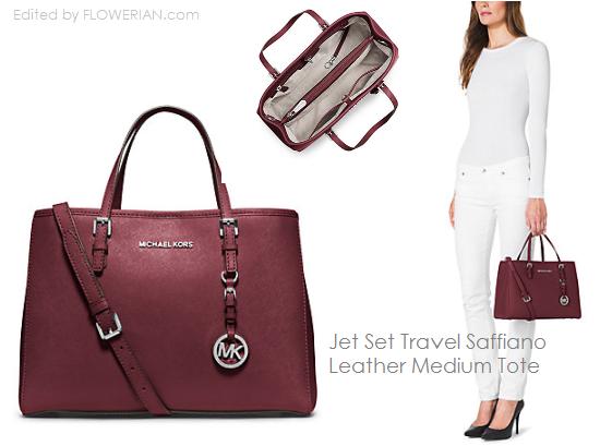 6d1db289bb152b Si Elegan Jet Set Travel Saffiano Leather Medium Tote. Koleksi Tas Michael  Kors
